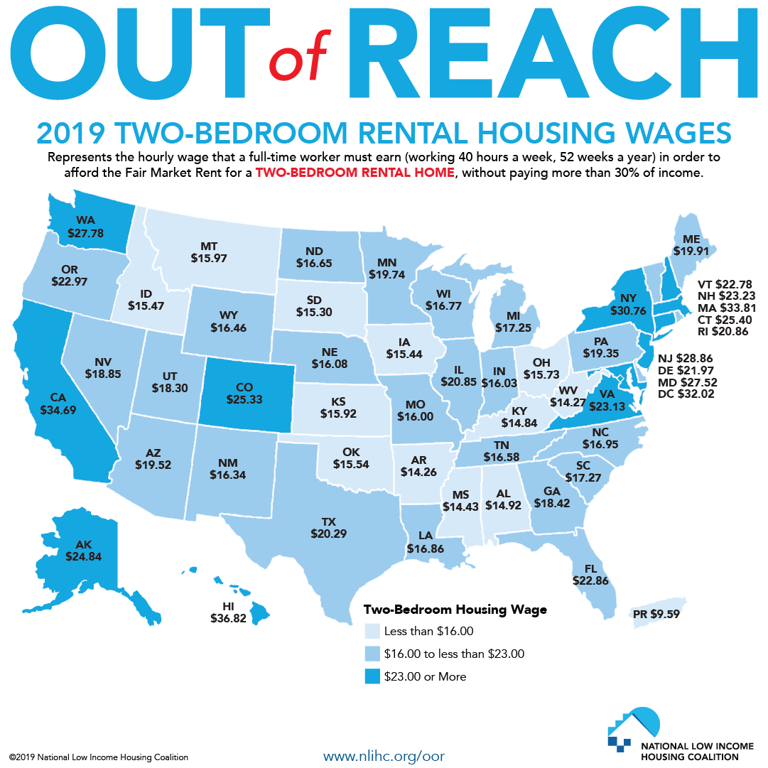 Apartment Rent Map: Out Of Reach Report Graphics And Press Contact